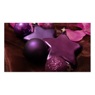 Purple Christmas Business Cards