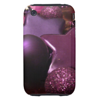 Purple Christmas iPhone 3 Tough Case