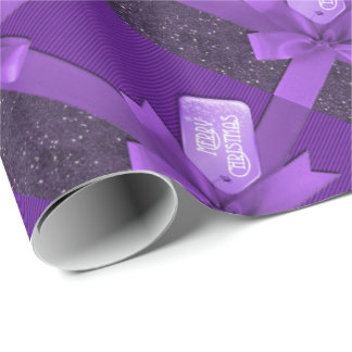 Purple Christmas Package Wrapping Paper