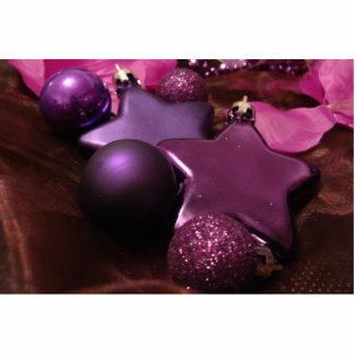 Purple Christmas Photo Cutout