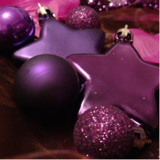 Purple Christmas Photo Sculpture