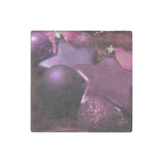 Purple Christmas Stone Magnet