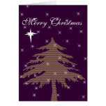 Purple Christmas Tree Holiday Card