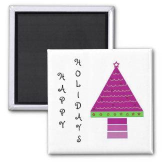 Purple Christmas Tree Magnet
