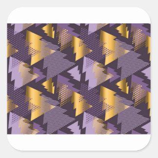 purple christmas trees square sticker