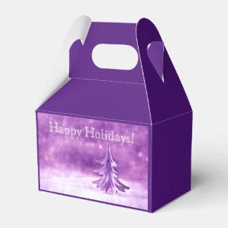 Purple Christmas Winter Wonderland Personalized Wedding Favour Box