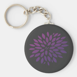 Purple Chrysanthemum Key Ring