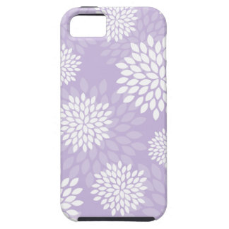 Purple Chrysanthemums Floral Pattern iPhone 5 Covers
