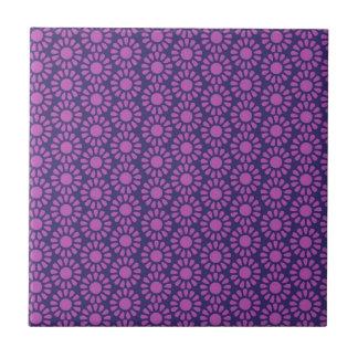 Purple Circle Pattern Flower Design Gifts Ceramic Tile