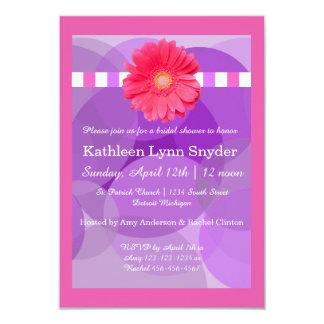 Purple Circles - 3x5 Bridal Shower Invitation