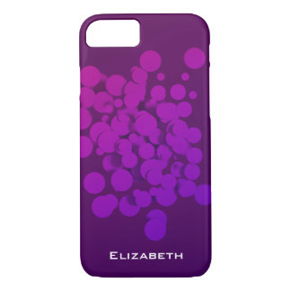 Purple Circles Abstract Background Personalized iPhone 7 Case