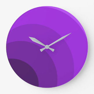 Purple Circles Clock
