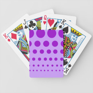 Purple Circles Graduated Bicycle Playing Cards