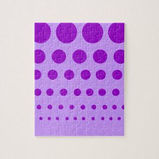 Purple Circles Graduated Jigsaw Puzzle