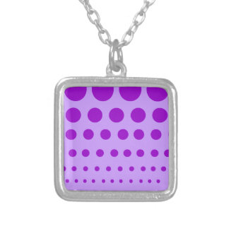 Purple Circles Graduated Silver Plated Necklace