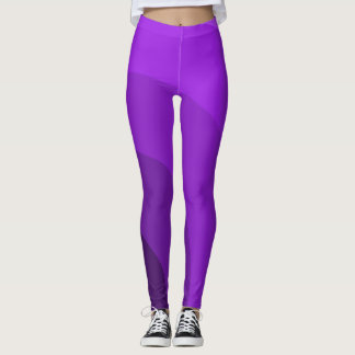 Purple Circles Leggings