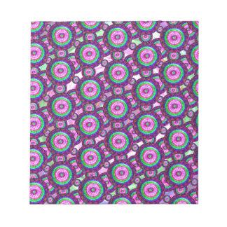 Purple circles notepad