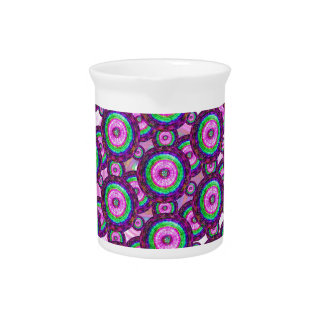 Purple circles pitcher