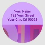 purple circles squares abstract stickers