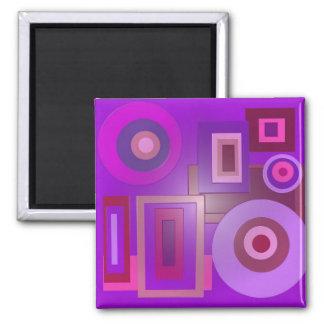 purple circles squares refrigerator magnets