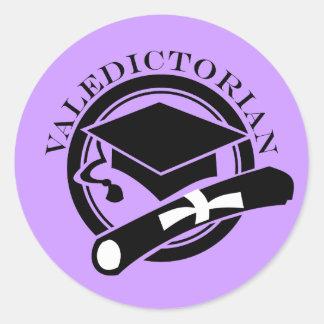 Purple Class Valedictorian Stickers Gift