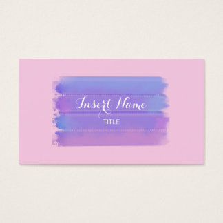 Purple Classic Rose Watercolor Brushstrokes Business Card