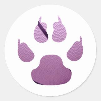 Purple Claw Classic Round Sticker