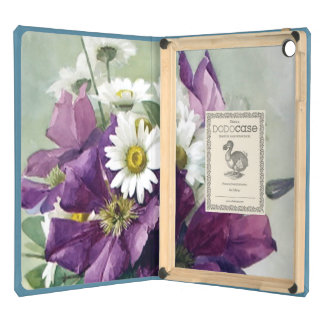 Purple Clematis and Daisies iPad Air Cover