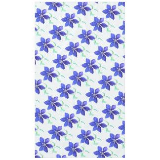 Purple Clematis Flower Garden Tablecloth