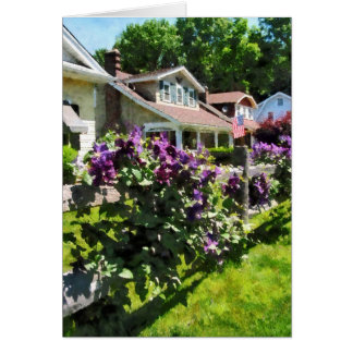 Purple Clematis on Rustic Fence Card
