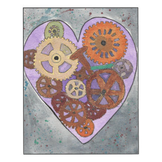Purple Clockwork Heart (14x11), Wall Panel