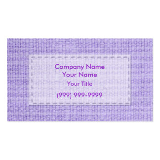 Purple Clothing Business Card Templates