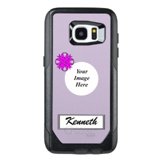 Purple Clover Ribbon Template by Kenneth Yoncich OtterBox Samsung Galaxy S7 Edge Case