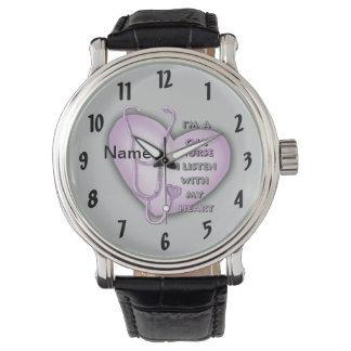 Purple CNA Nurse Watch