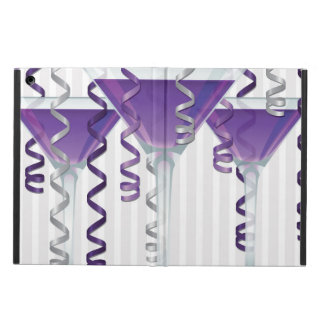 Purple cocktail and ribbon iPad air cover