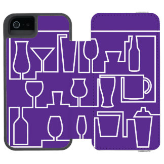 Purple cocktail party incipio watson™ iPhone 5 wallet case
