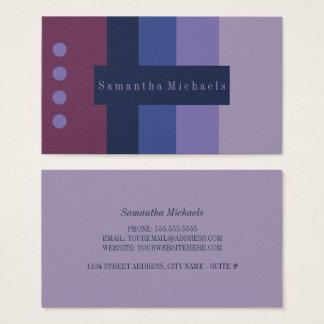 Purple Color Block Business Cards