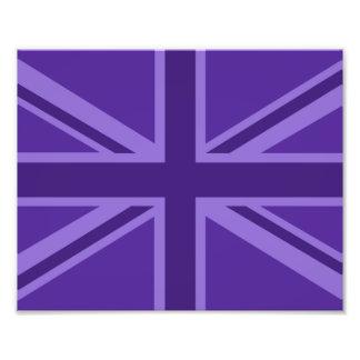 Purple Color Union Jack British Flag Design Photograph