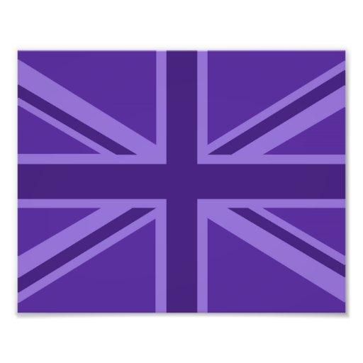 Purple Color Union Jack British Flag Design Photographic Print