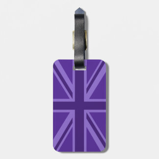 Purple Color Union Jack Flag Design Luggage Tag