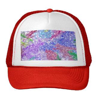 Purple Colorful Watercolor Abstract Glitter Photo Cap