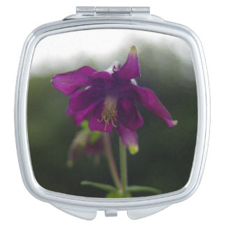 Purple Columbine Compact Mirror