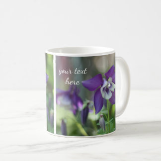 Purple Columbine flowers Coffee Mug