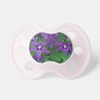 Purple Columbines - Booginhead pacifier