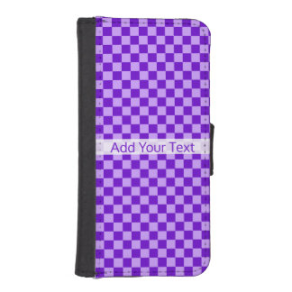 Purple Combination Checkerboard by Shirley Taylor iPhone SE/5/5s Wallet Case