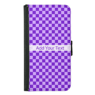 Purple Combination Checkerboard by Shirley Taylor Samsung Galaxy S5 Wallet Case