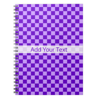 Purple Combination Checkerboard by Shirley Taylor Spiral Notebook