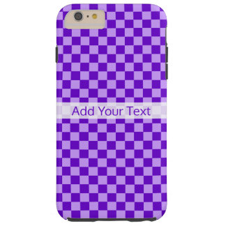Purple Combination Checkerboard by Shirley Taylor Tough iPhone 6 Plus Case