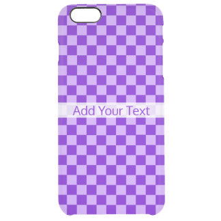 Purple Combination Checkerboard by ShirleyTaylor Clear iPhone 6 Plus Case
