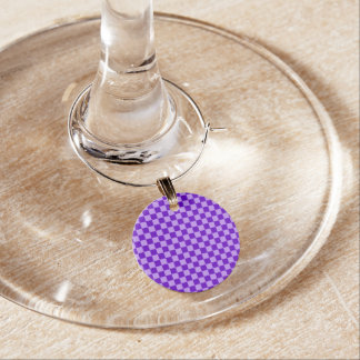 Purple Combination Classic Checkerboard by STaylor Wine Charm